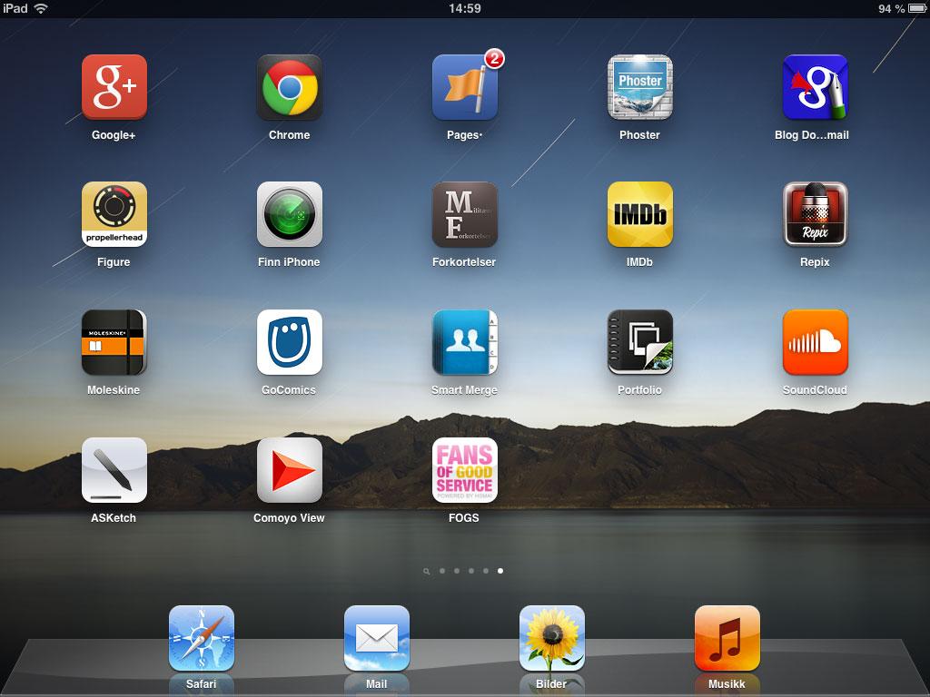 Fans of Good Service-snarvei på iPad.