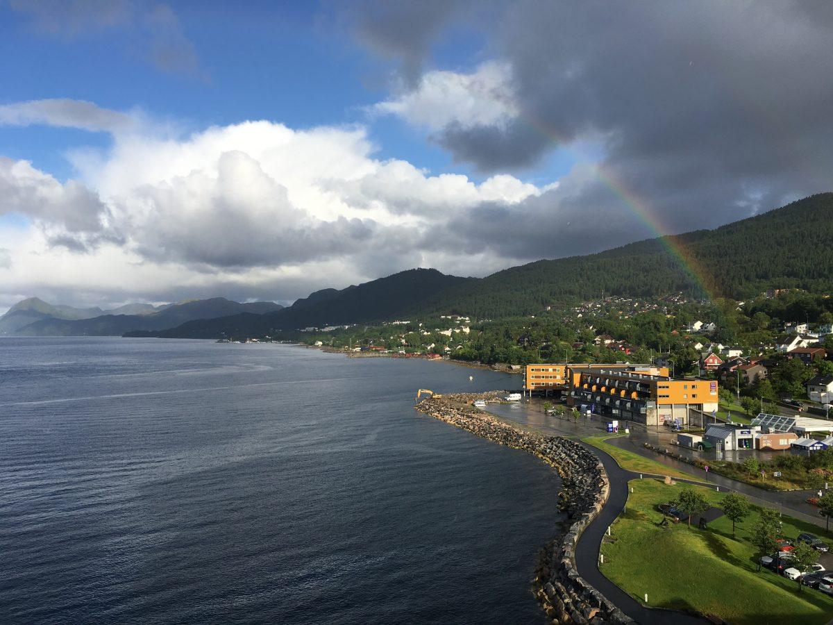 Utsikten fra Scandic Seilet Hotel
